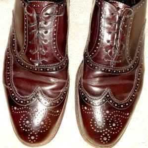 French Shriner Sterling 9 Oxford Burgundy Brown Dr